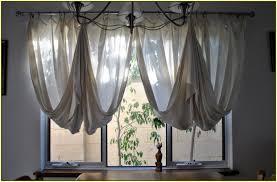 hung curtain