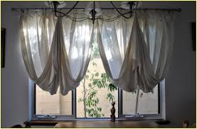 hung curtain