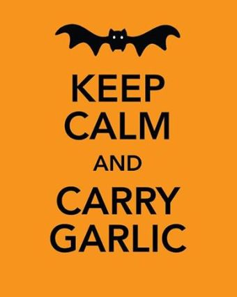 Image result for picture of vampire and Garlic