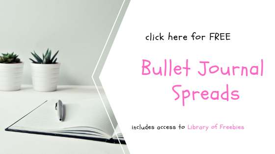 Snag your free bullet journal spreads along with other worksheets designed to make your life more organized and efficient. Skyrocket your productivity and live the life you long to live. Click through to learn more.