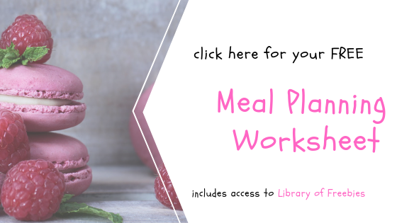 Free Meal Planning Worksheet