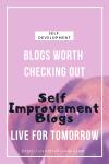Self Improvement Blogs
